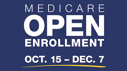 Medicare open enrollment is Oct. 15 through Dec. 7.