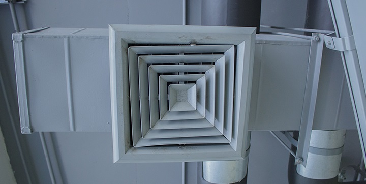 Image shows an overhead air vent.